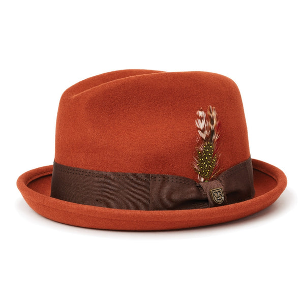 Brixton Gain Fedora in Picante colour