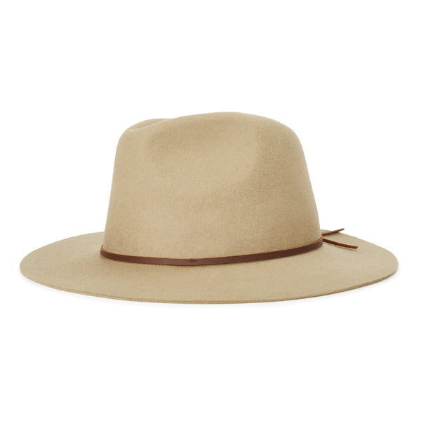 Image of brixton Wesley fedora in elmwood natural colour