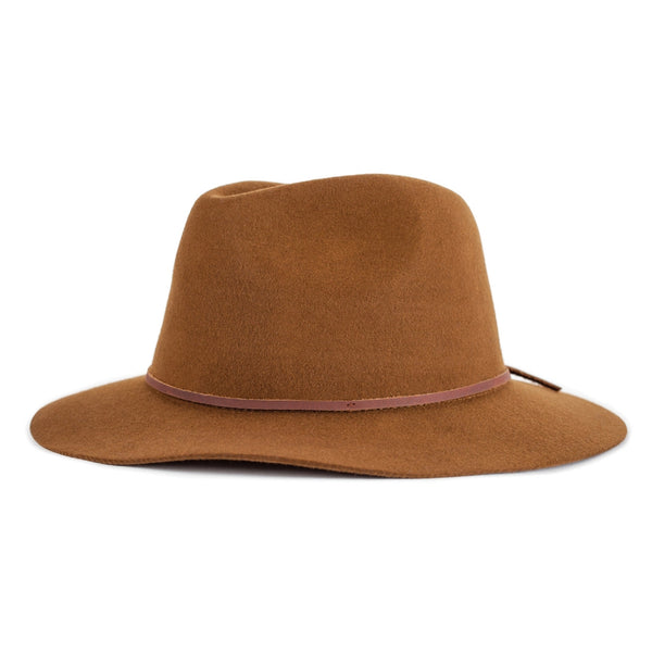Image of brixton Wesley fedora in coffee colour