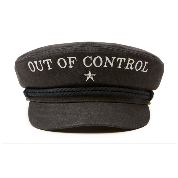 front on view Brixton Fiddler Cap - Out of Control limited edition