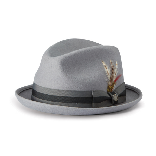 Brixton Gain fedora in Grey