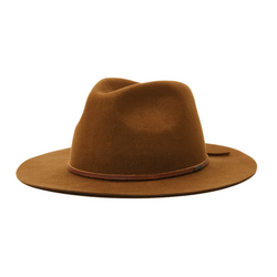 Brixton Wesley Packable Fedora in coffee colour