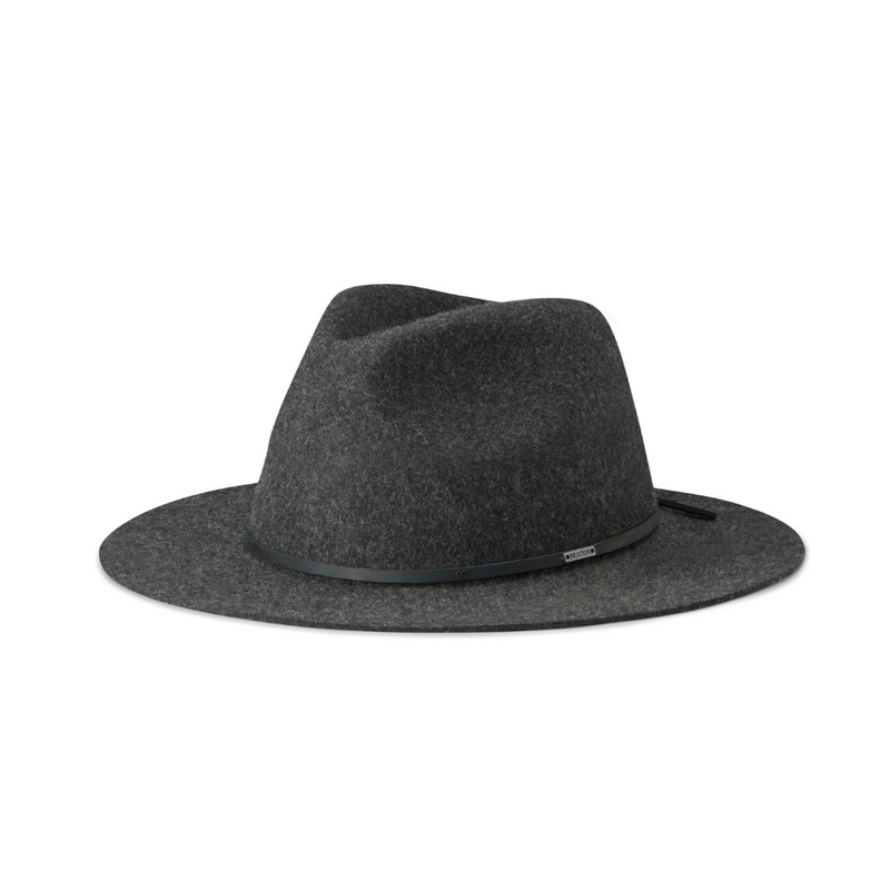 Brixton Wesley fedora hat in heather/black colour