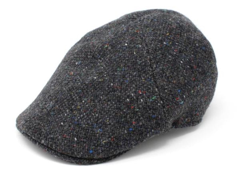 Hanna Erin Tweed Duckbill Cap - Charcoal