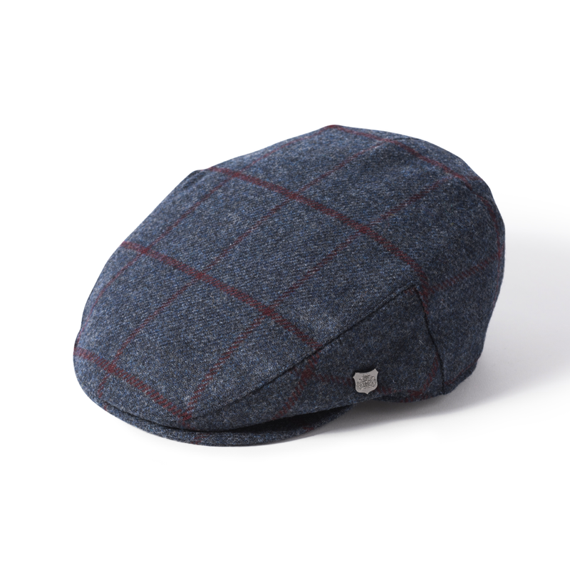 Failsworth Cambridge Wool Cap - Navy Check