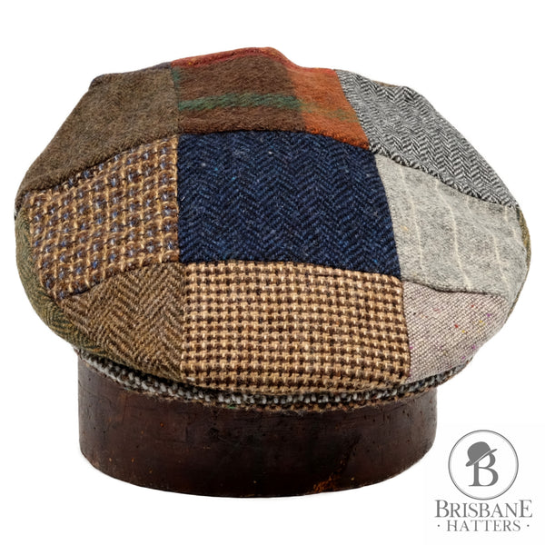 Hanna Patchwork Tweed Cap - Brisbane Hatters