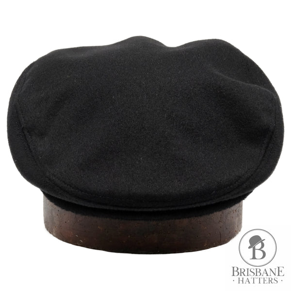 Hills Hats Cash/Wool Cheescutter - Black - Brisbane Hatters