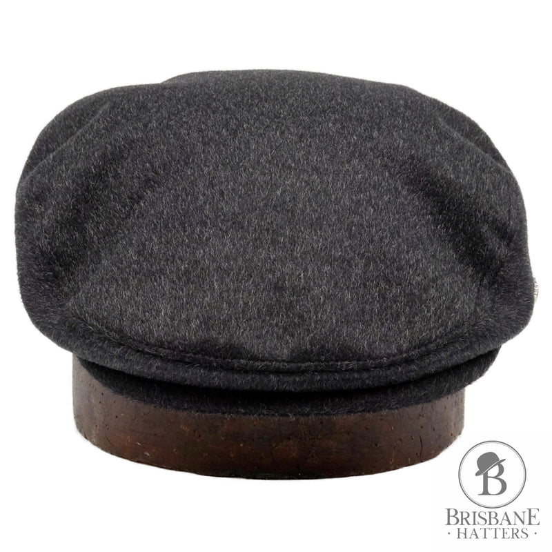 Hills Hats Cash/Wool Cheescutter - Charcoal - Brisbane Hatters