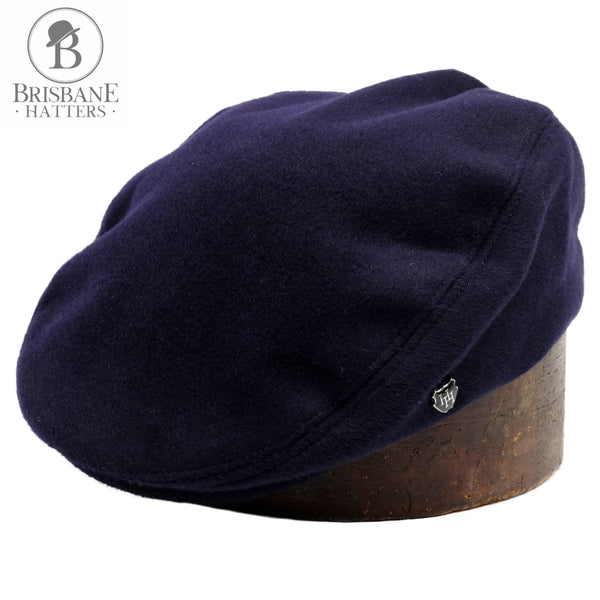 Hills Hats Cash/Wool Cheescutter - Navy - Brisbane Hatters