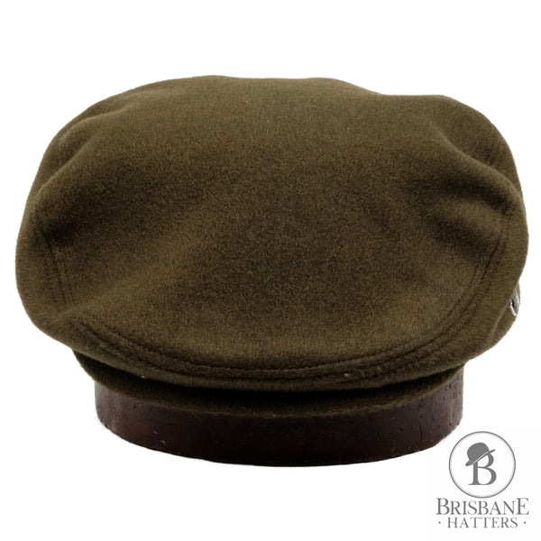 Hills Hats Cash/Wool Cheescutter - Olive - Brisbane Hatters