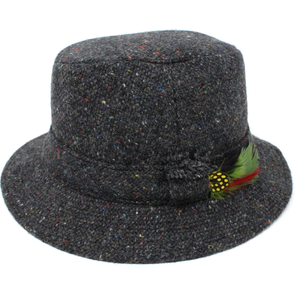 Hanna Tweed Walking Hat - Charcoal