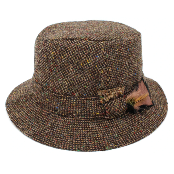 Hanna Tweed Walking Hat - Chocolate