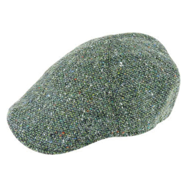 Angle view of Hanna Hats Erin Tweed Cap in Emerald 21630-C61