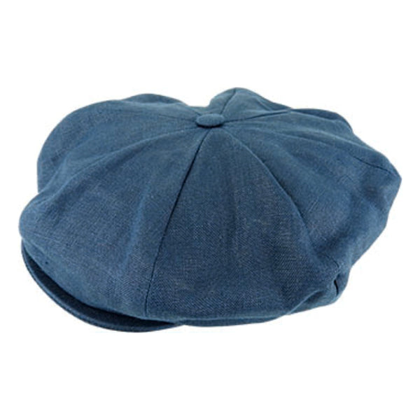 Hanna Hats Vintage Linen 8 Piece cap in Navy
