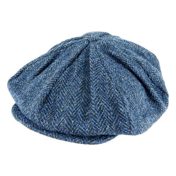 Hanna Hats Vintage Tweed 8 Piece cap in Navy 2146