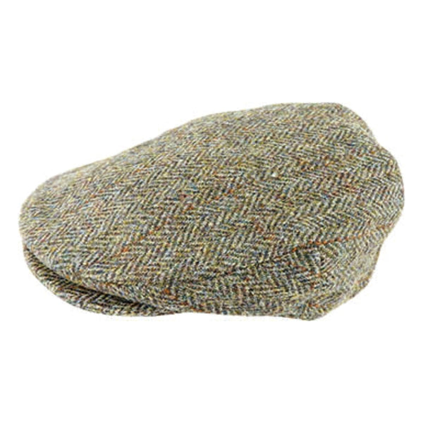 side View Hanna Hats Vintage Tweed Cap in Khaki 2083
