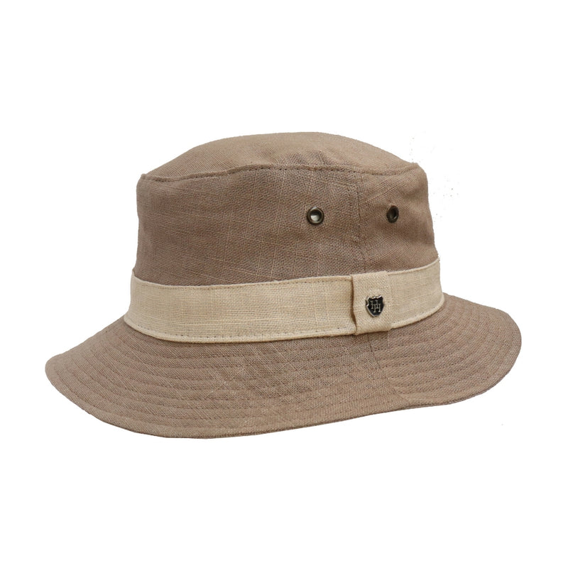 Hills Hats Pure Linen Bucket Hat - Donkey