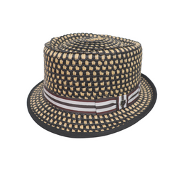 Hills Hats Porkpie - Woodchip