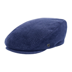 Hills Hats San Fran Cord Cheesecutter cap in Navy colour