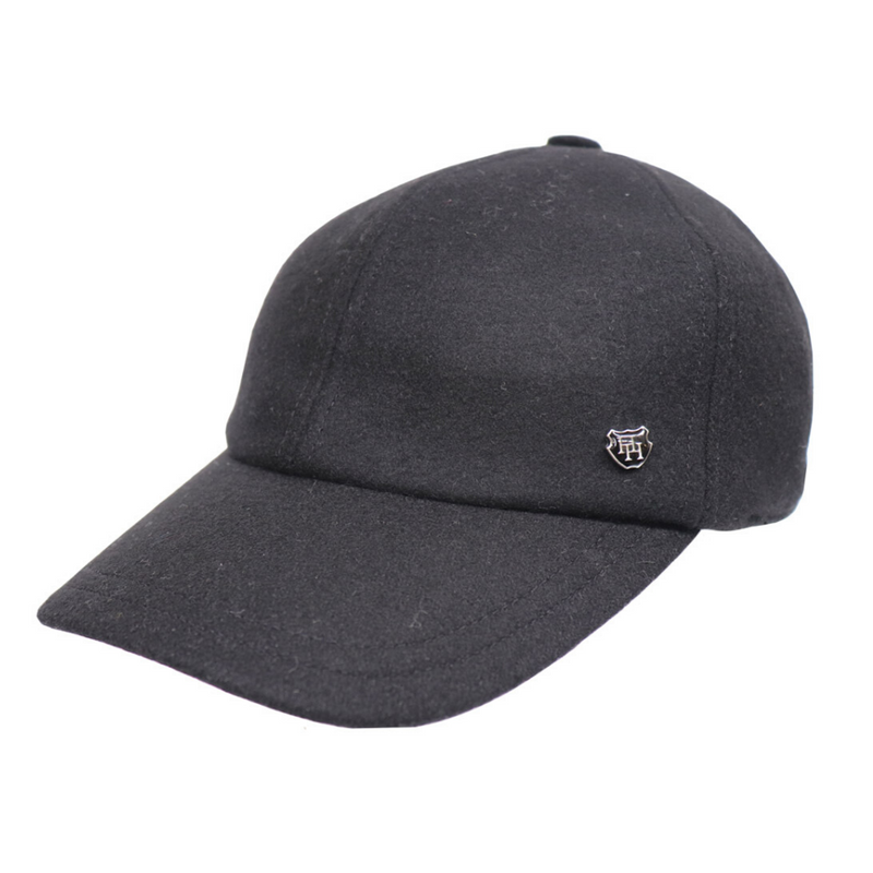 Hills Hats Wool Baseball Cap - Black