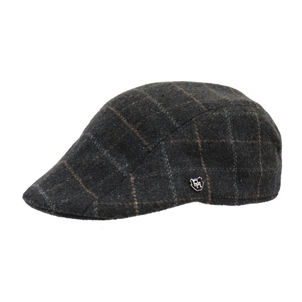 Side View of the Hills hats Coal Fire Duckbill cap in Black