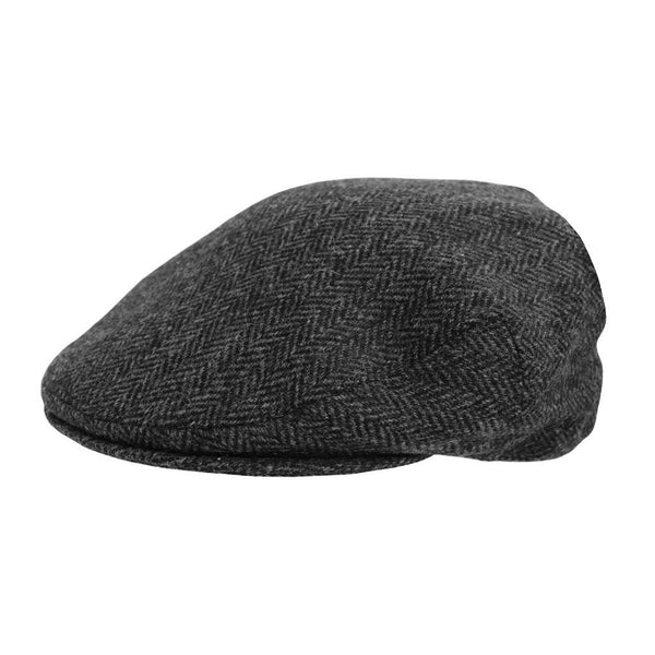 Hills Hats Dartford Tweed Cheesecutter - Charcoal