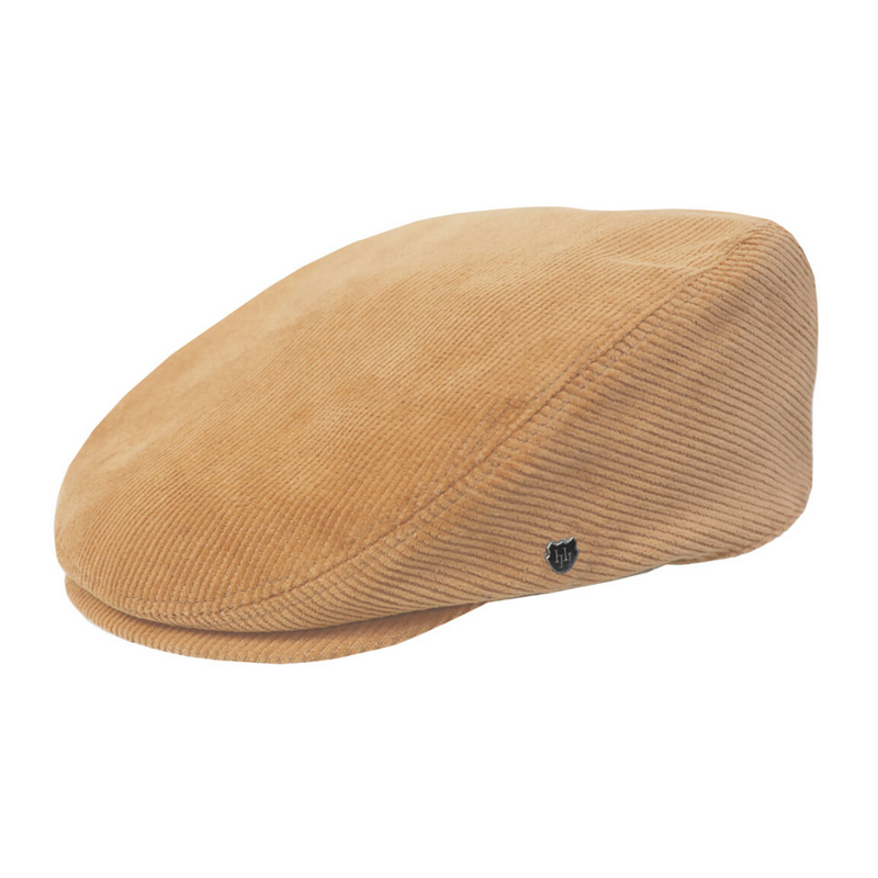 Hills Hats San Fran Cord Cheesecutter cap in Camel colour