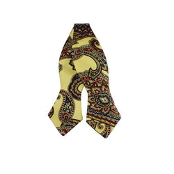 Bowtie - Champagne Paisley Silk