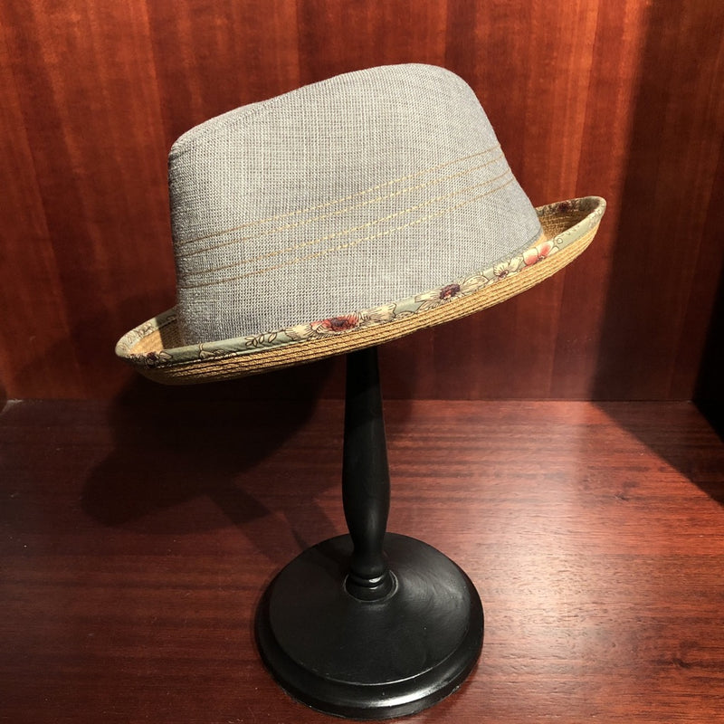 Avenel Print Bound Trilby - Brown