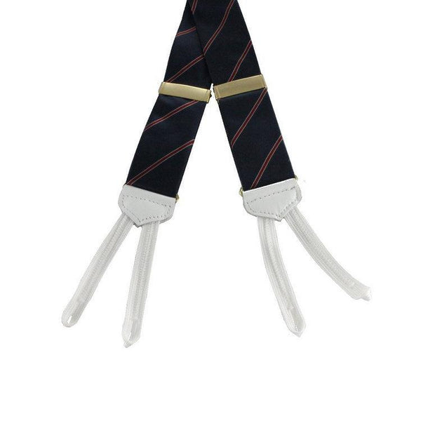 Braces - Navy and Red Silk