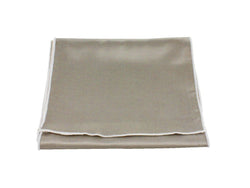 Scarf - Champagne Sateen Wool (White Edge)