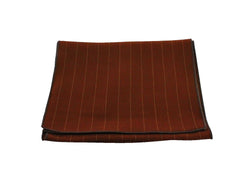 Scarf - Rust Striped Wood (Brown Edge)