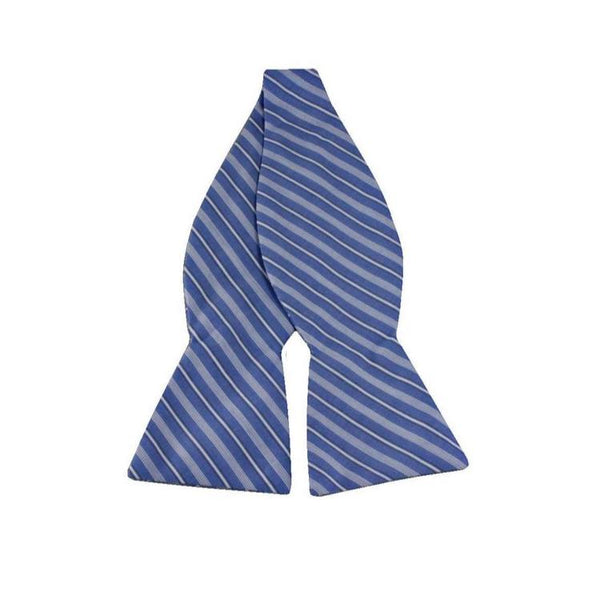 Bowtie - Blue Striped Cotton