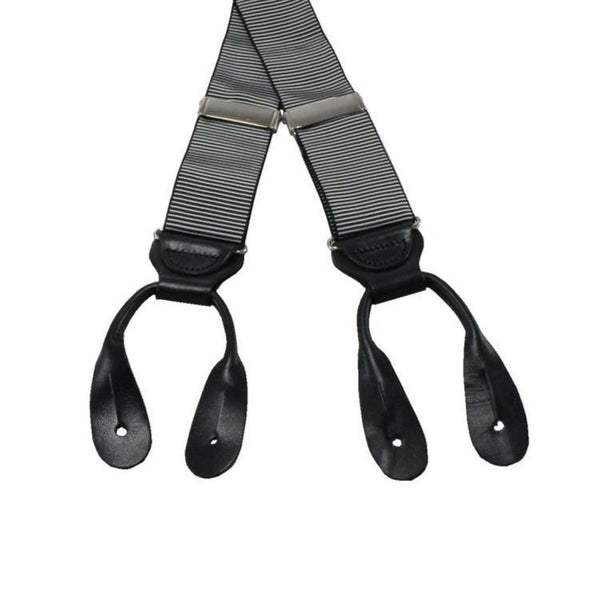 Braces - Black and Silver Grosgrain