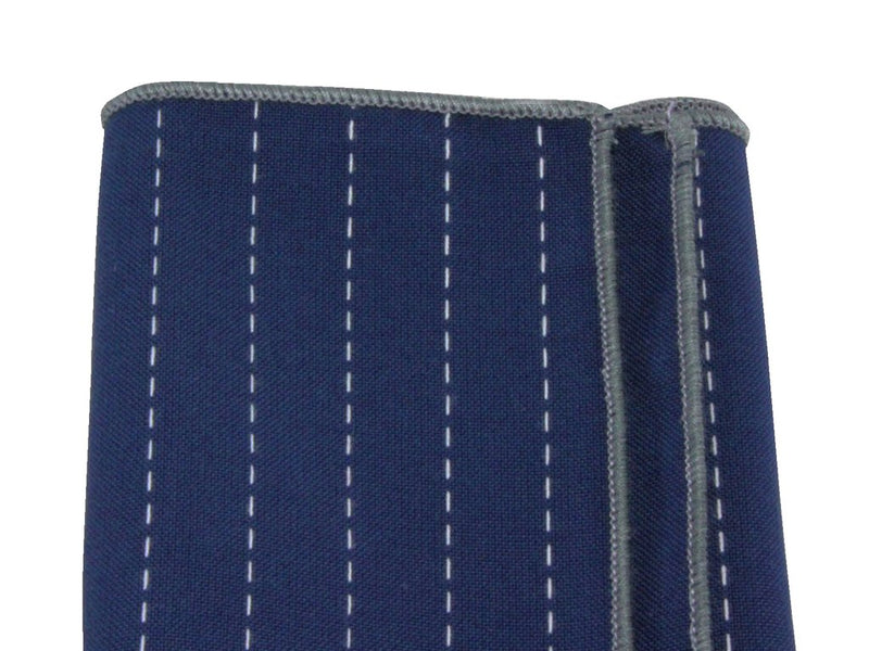 Pocket Square - Blue Embroidered