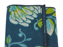 Pocket Square - Teal Floral