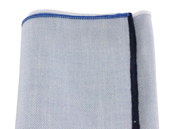 Pocket Square - 4 Coloured Edge (Oxford)