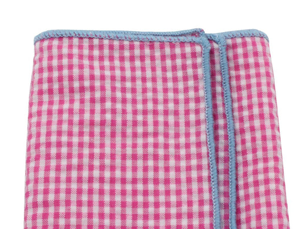 Pocket Square - Pink Gingham