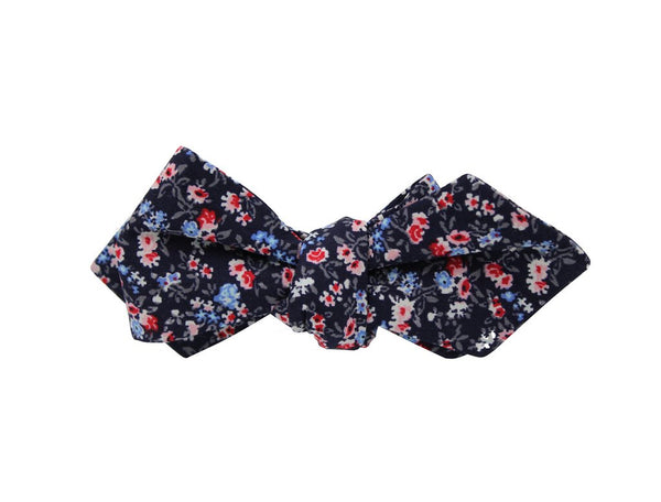 Bowtie - Navy Floral Cotton