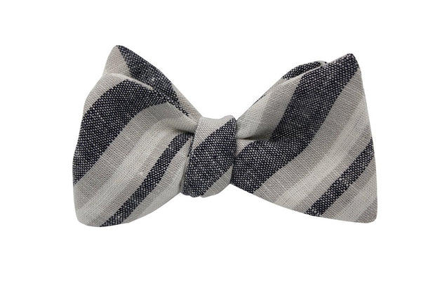 Bowtie - Washed Striped Linen