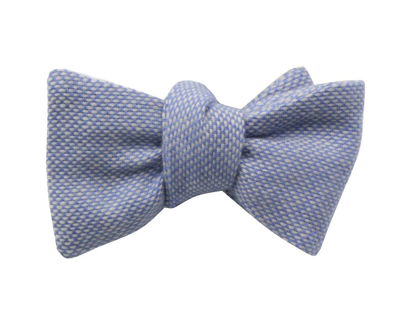 Premium Bowtie - Blue Bird's Eye Cashmere