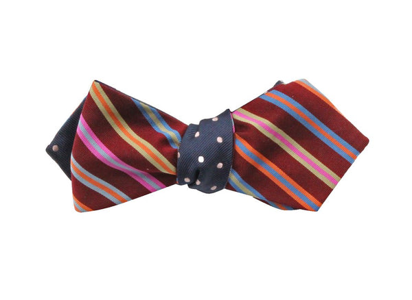 Bowtie - Polka Dot & Striped Silk