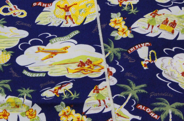Neck Kerchief - Hawaiian Print Cotton