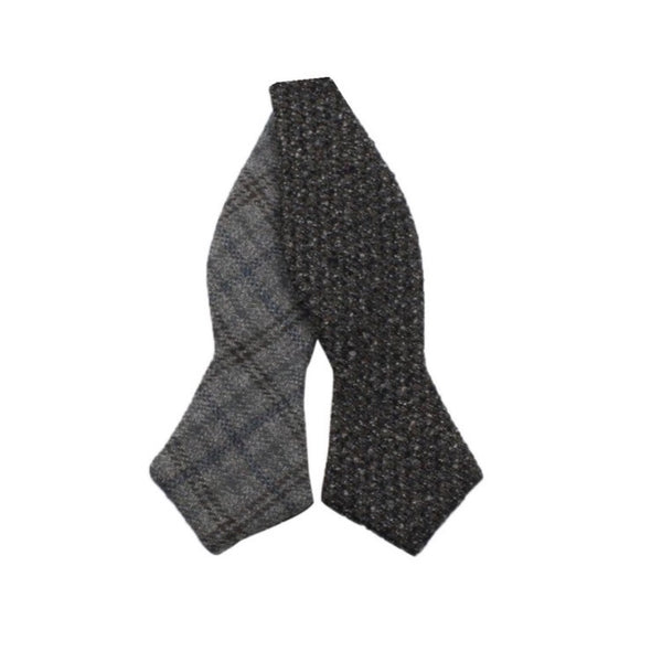 Premium Bowtie - Grey Check and Donegal Tweed