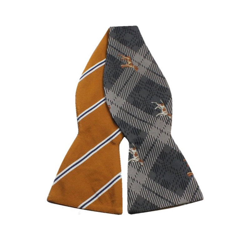 Bowtie - Gold Striped Dogs Silk