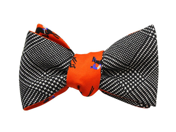 Bowtie - Orange Equestrian Silk