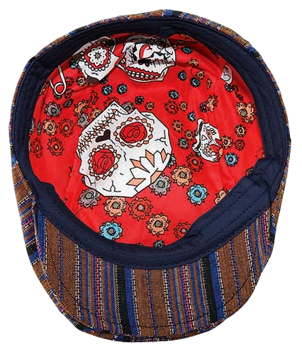 Underside of Carlos Santana Antigua cap showing patterned lining