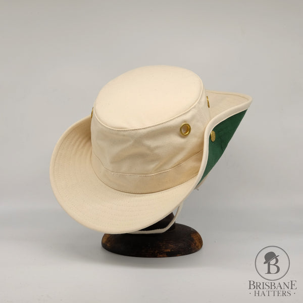 Tilley T3 Cotton Duck - Natural/Green - Brisbane Hatters
