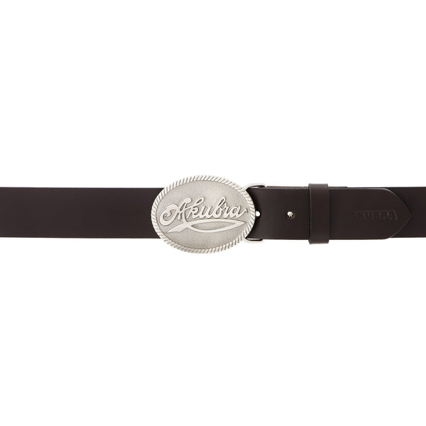 Akubra Trophy Belt - Brown - Brisbane Hatters