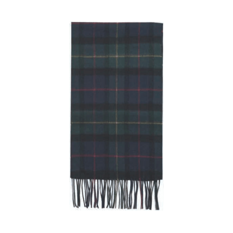 Failsworth Black Watch tartan check lambswool scarf